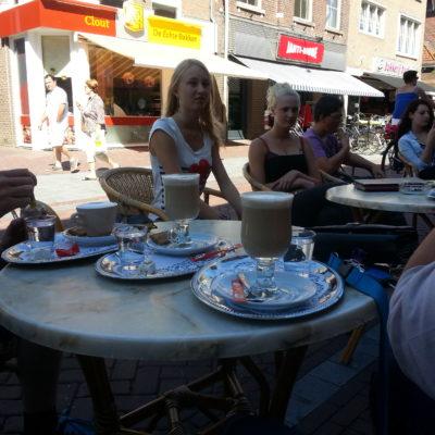 Diner bij vrienden van de stichting in Marcourt