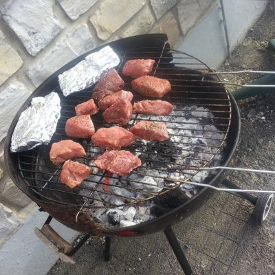 BBQ na het kajakken en tokkelen