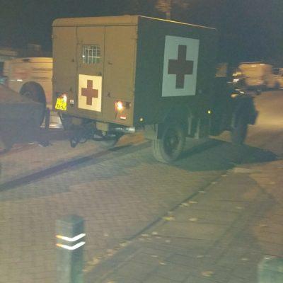 Een ambulance doet dienst als vervoer