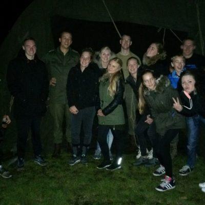 Nachtkampement de hele groep